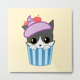 cupcake kitty Metal Print