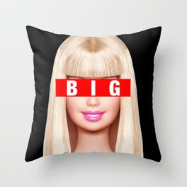 Big Little Barbie (Big) Throw Pillow