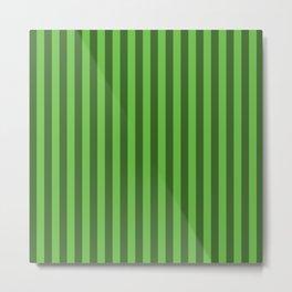 Green Stripes Pattern Metal Print