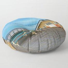 On Penarth Pier Floor Pillow