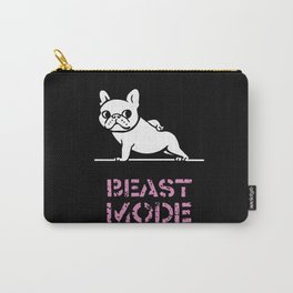BEAST MODE FRENCH BULLDOG Carry-All Pouch