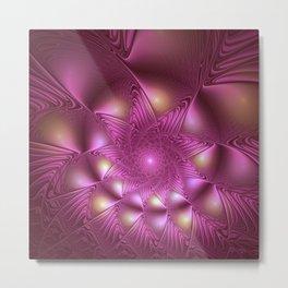 Shining Bright, Abstract Fractal Art Metal Print
