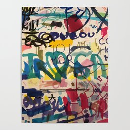 Urban Graffiti Paper Street Art Poster