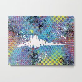 White Noise Abstract Metal Print