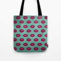 lips Tote Bags featuring LIPS by AMULET