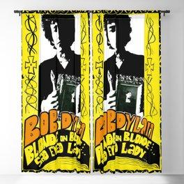 Vintage 1967 Bob Dylan Blonde on Blonde Concert Gig Poster Blackout Curtain