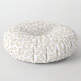 Cream Leopard Floor Pillow