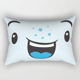Blue Smiling Kawaii Rectangular Pillow