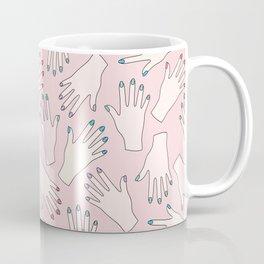 Pastel Manicured Hands Pattern Coffee Mug