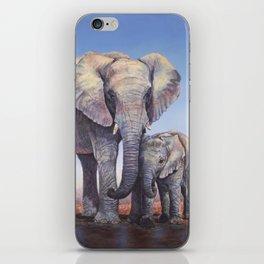 Elephants Mom Baby iPhone Skin