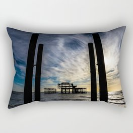 Brighton Seascape II Rectangular Pillow