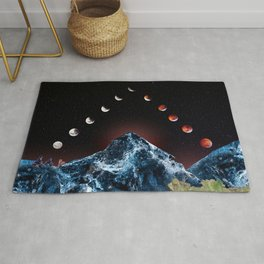 Midnight Moons Over Crystal Mountains Rug