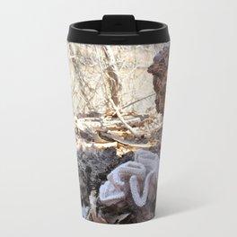 Knitted Eastern Cauliflower Mushroom Travel Mug