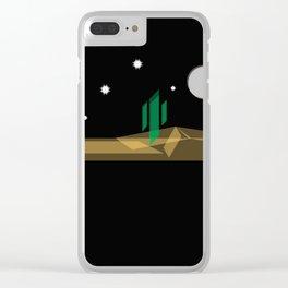 Desert Night Clear iPhone Case