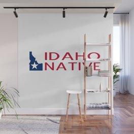 Idaho Native with Idaho Shape and Star Wall Mural