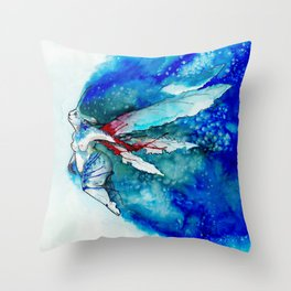A Blue Fairy Throw Pillow
