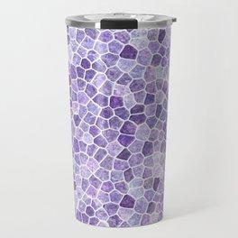 Lilac Cobbled Patchwork Terrazo Pattern Travel Mug