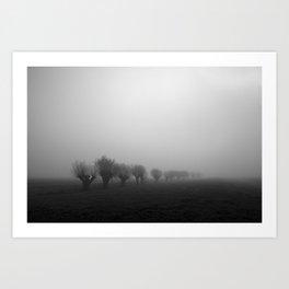 Netherlands in fog Art Print
