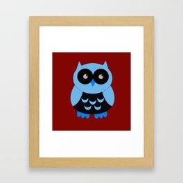 Vintage Vector Smart Owl Framed Art Print
