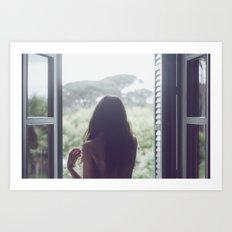 Una habitación con vistas Art Print