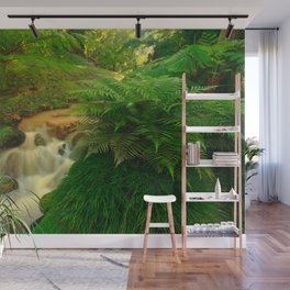 Stream in the forest Wall Mural
