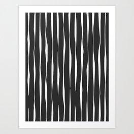 Line Pattern - Dark Art Print