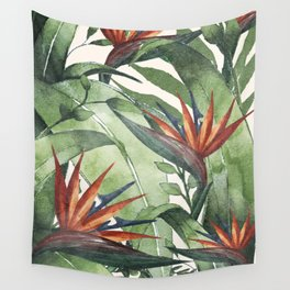 Tropical Flora I Wall Tapestry