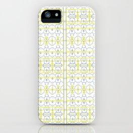 Yellow Batik iPhone Case