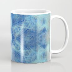Wispy fairy kaleidoscope in blue Mug