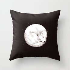The Howl of the Moon Throw Pillow