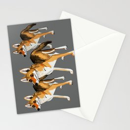 Senegalese Wolf in grey Stationery Cards