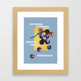 nice plums Framed Art Print