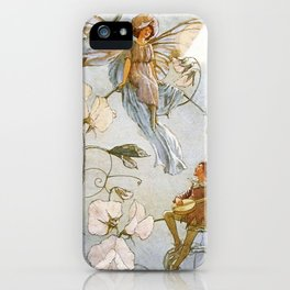 """Fairies Mid Sweet Peas"" by Margaret Tarrant iPhone Case"