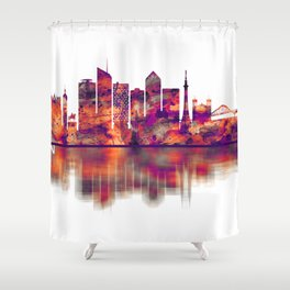 Lyon France Skyline Shower Curtain