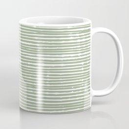 Stripes, Mudcloth, Sage Green, Boho Wall Art Coffee Mug