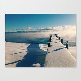 Snowy Pier Canvas Print