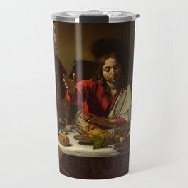 The Supper at Emmaus, Caravaggio, 1601 Travel Mug