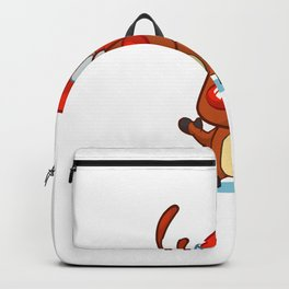I'm Ready To Get Some Bzzz Reindeer Matching Group Backpack