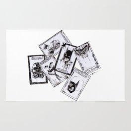 A Gotham Tarot Reading Inktober Drawing Rug
