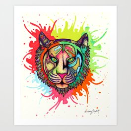 Rainbow Tiger Art Print