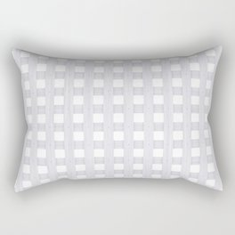 Light Grey Wood Lattice Rectangular Pillow