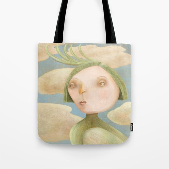 Green Crested Ladytoo Tote Bag