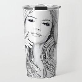 Xenia Tchoumitcheva Portrait of an angel with a frame Travel Mug