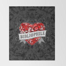 Bibliophile Heart Throw Blanket