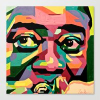 louis armstrong Canvas Prints featuring Louis Armstrong by Zelica Alexander