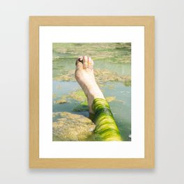 algae foot Framed Art Print