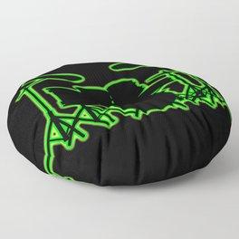Neon Drum Kit Floor Pillow