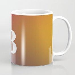 Monogram Letter B Initial Orange & Yellow Vaporwave Coffee Mug