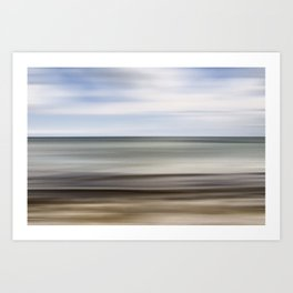 sea abstraction Art Print