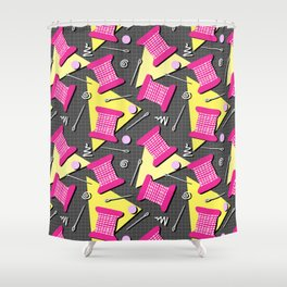Memphis Sewing Shower Curtain
